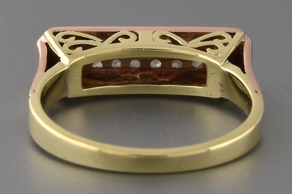 Item #2500 Mid-century Rose Cut Diamond Band with Openwork Design