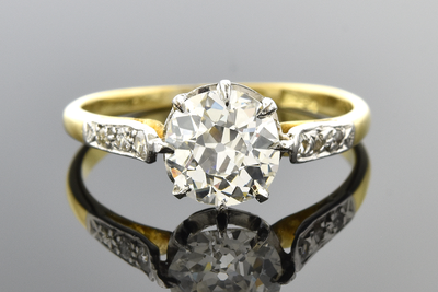 Handmade Edwardian Diamond Engagement Ring