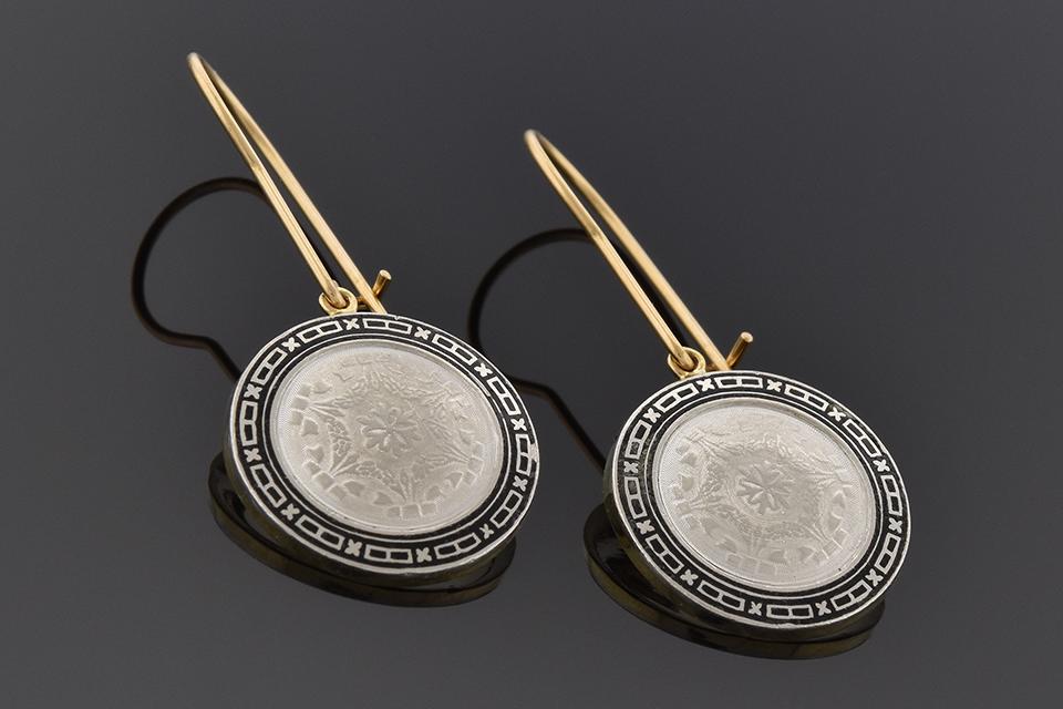 Disk Cufflink Conversion Earrings