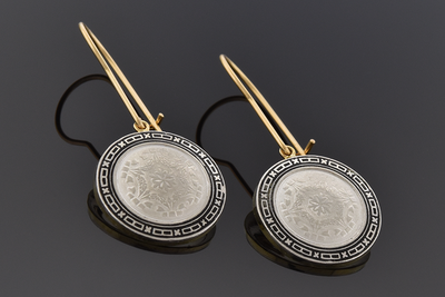 Disk Cufflink Conversion Earrings