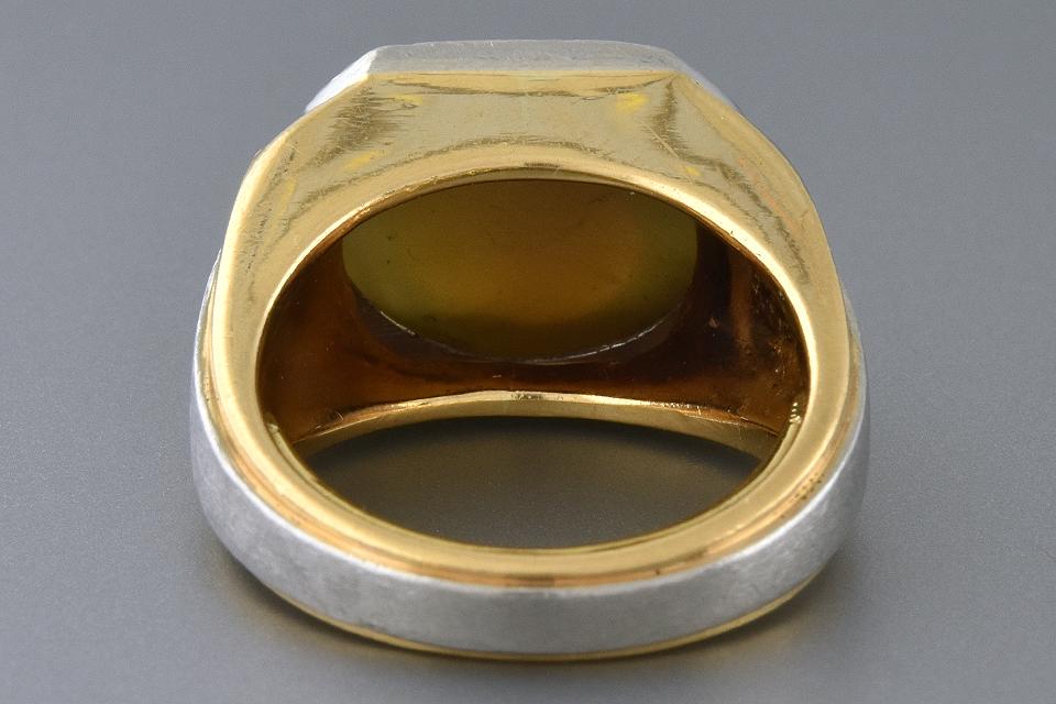 Heavy Gents Cat's Eye Chrysoberyl Ring