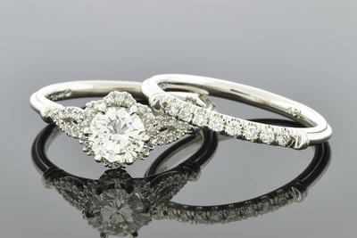 Item #6704 Halo Diamond Engagement Ring with Elegant Details
