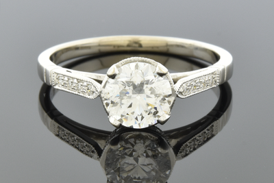 Item #5385 Delicate Diamond Engagement Ring