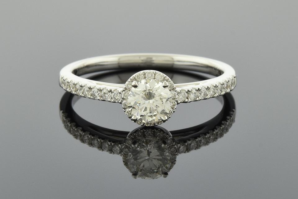 Item #2247 Understated Diamond Halo Engagement Ring 2247