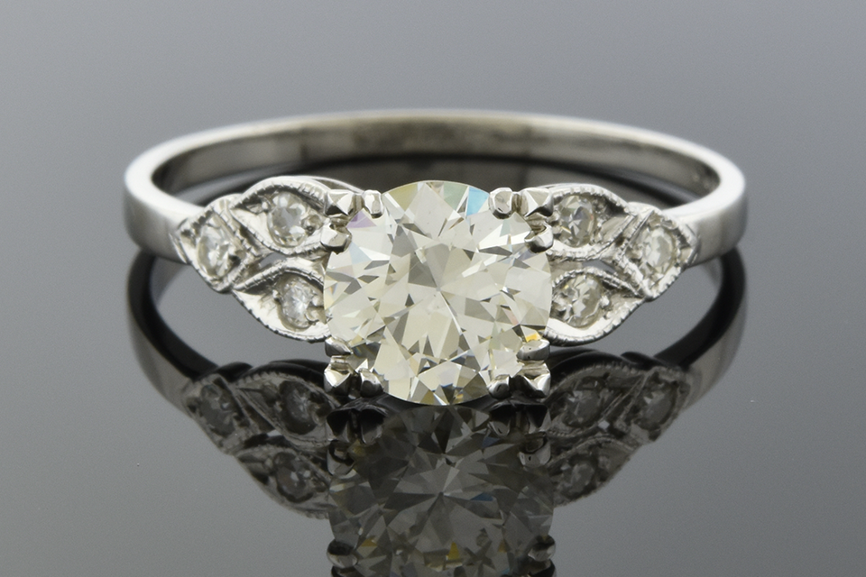 Item #4779 Vintage Side Design Engagement Ring 4779