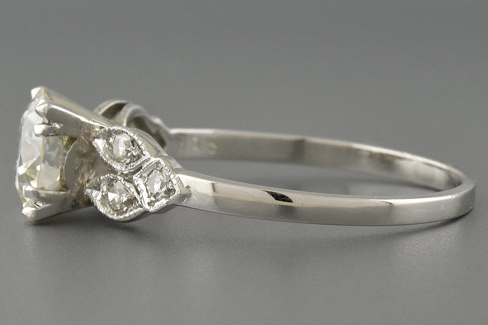 Vintage Side Design Engagement Ring