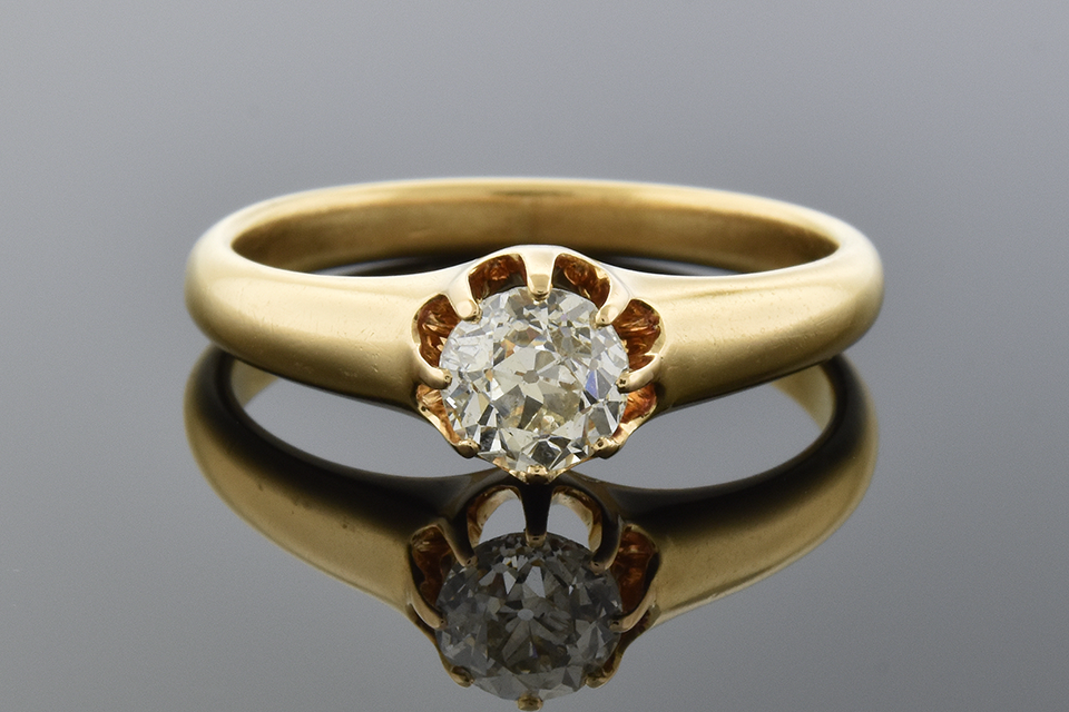 Victorian Diamond Solitaire Engagement Ring 4309