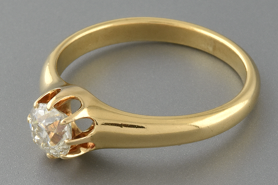 Victorian Diamond Solitaire Engagement Ring