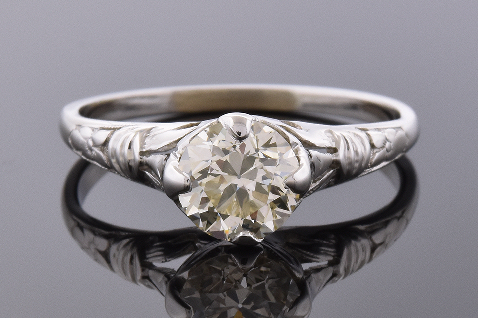 Item #4555 Vintage Diamond Engagement Ring 4555