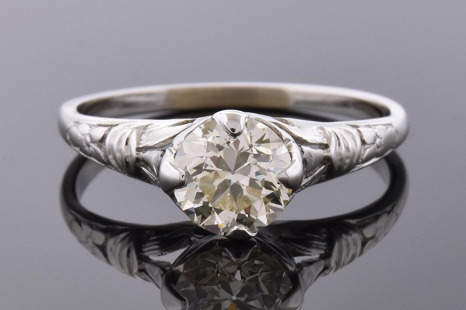 Item #4555 Vintage Diamond Engagement Ring
