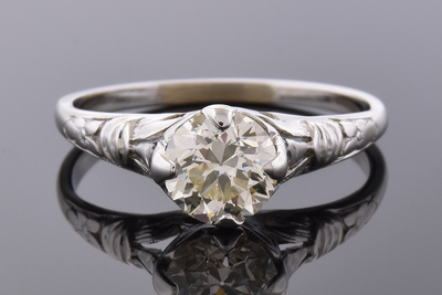Item #4555 Vintage Diamond Engagement Ring
