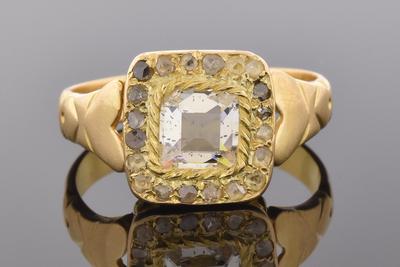 Item # 5600 Antique Table Cut Diamond Ring