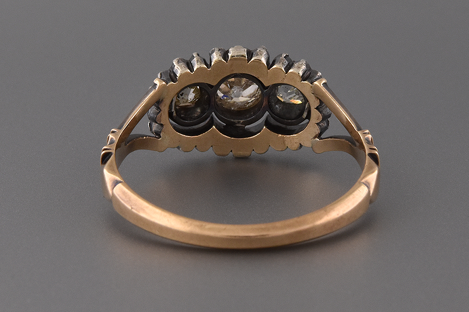 Mid-Victorian Three Stone Diamond Ring