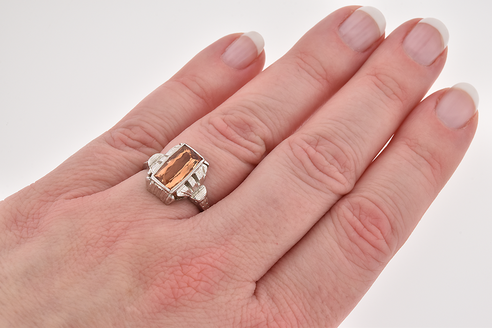 Art Deco Imperial Topaz Ring