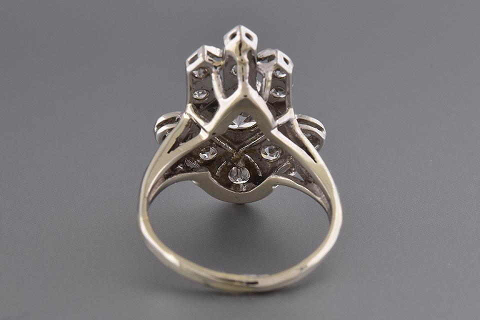 Unique Design Art Deco Diamond Ring