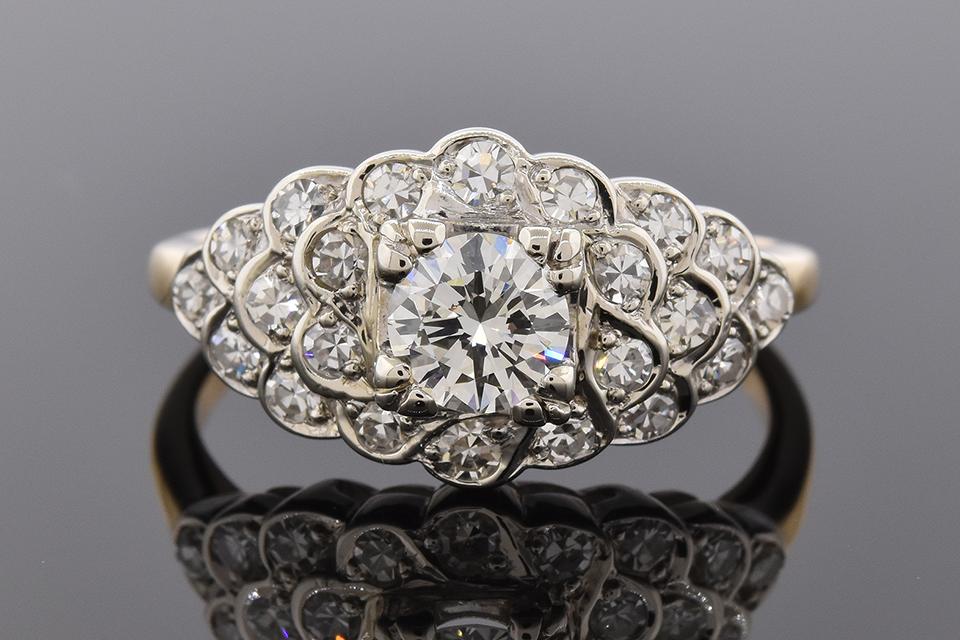 Item #6623 Mid-Century Diamond Statement Ring 6623