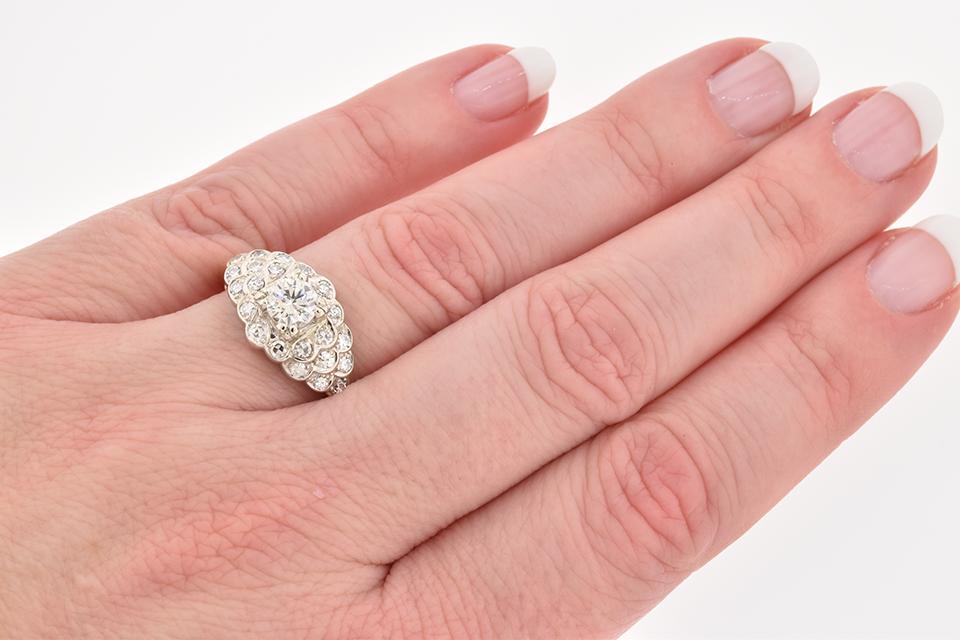 Mid-Century Diamond Statement Ring