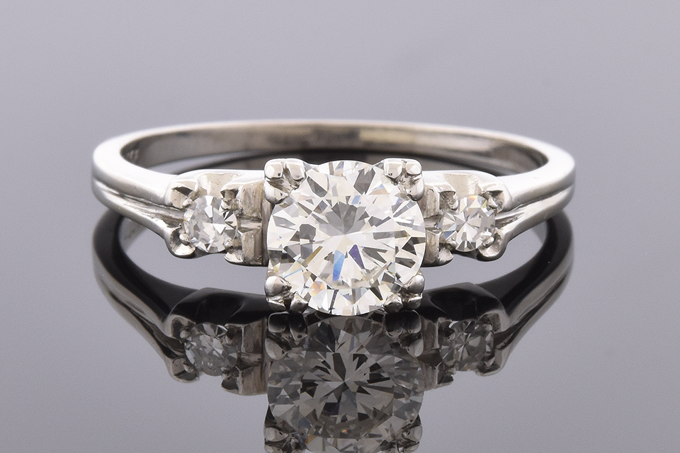 Item #4385 Simple Line Diamond Engagement Ring 4385