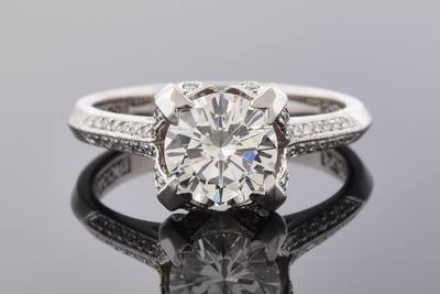 Item #7250 Micro Pave Diamond Detail Engagement Ring by Tacori