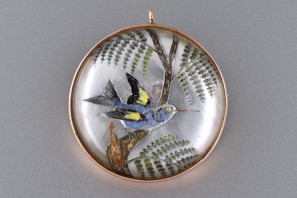 Hummingbird Reverse Painting Pin