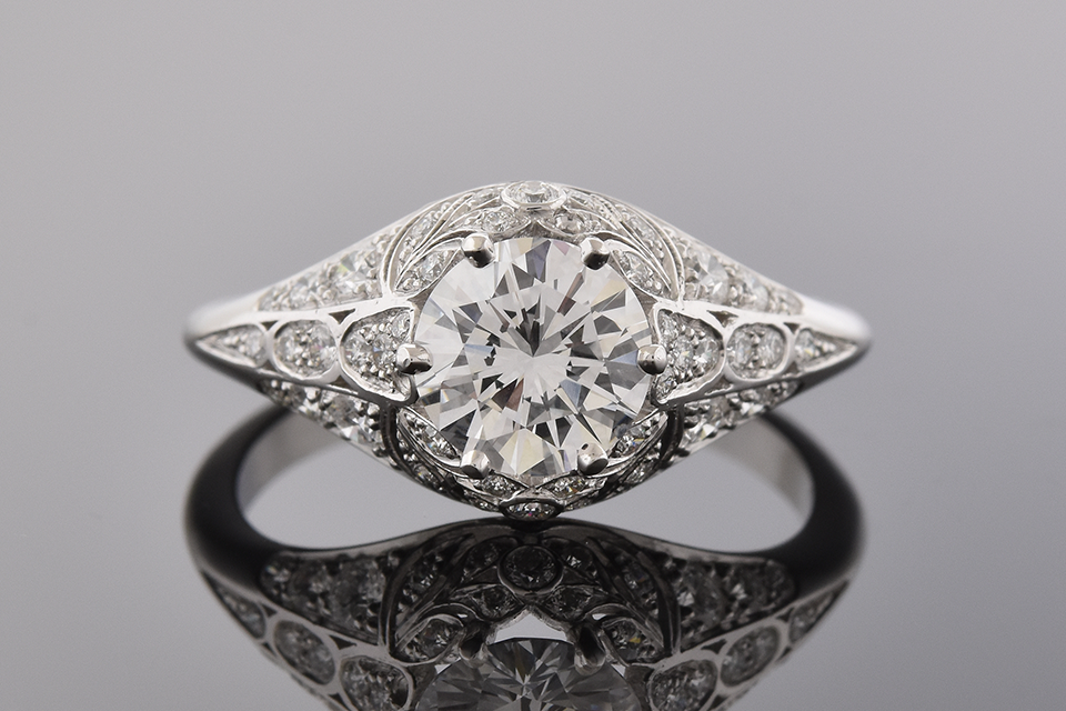 Colorless 1.00 Carat Engagement Ring