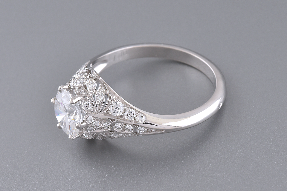 Colorless 1.00 Carat Diamond Engagement Ring
