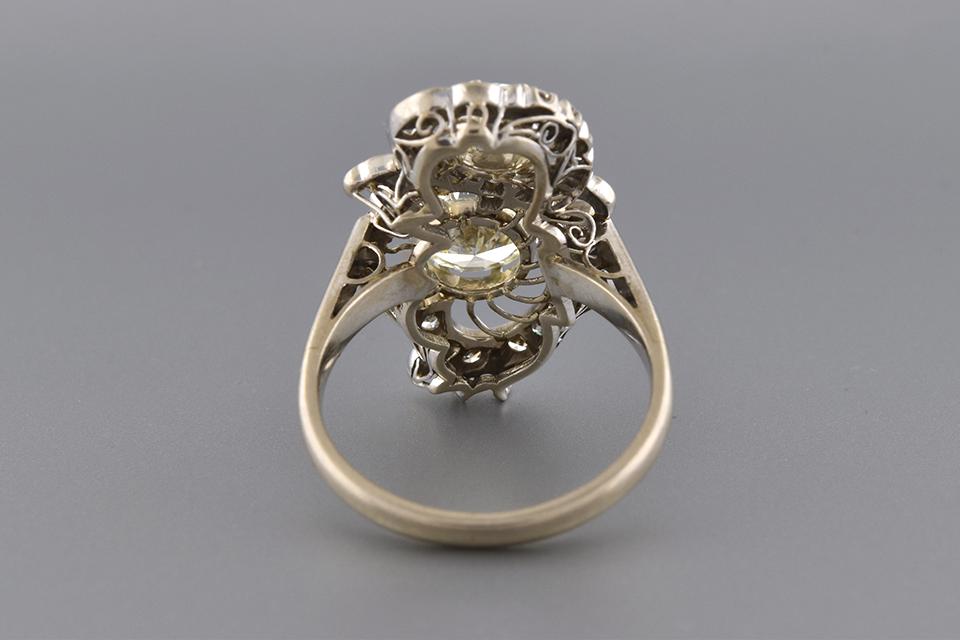 Fabulous Vintage Right Hand Diamond Ring