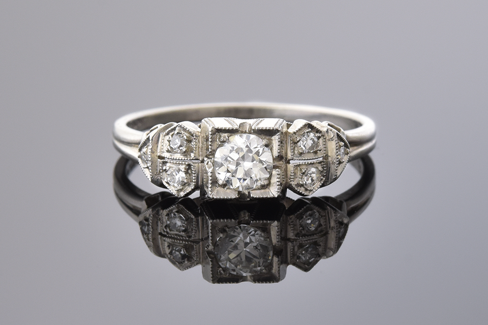Art Deco Beauty: Handmade Diamond Ring
