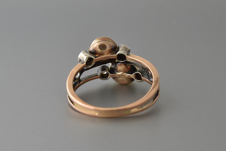 Georgian Pearl and Rose Cut Diamond Ring