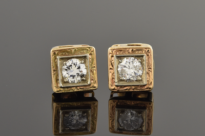 Vintage Baby Diamond Earrings