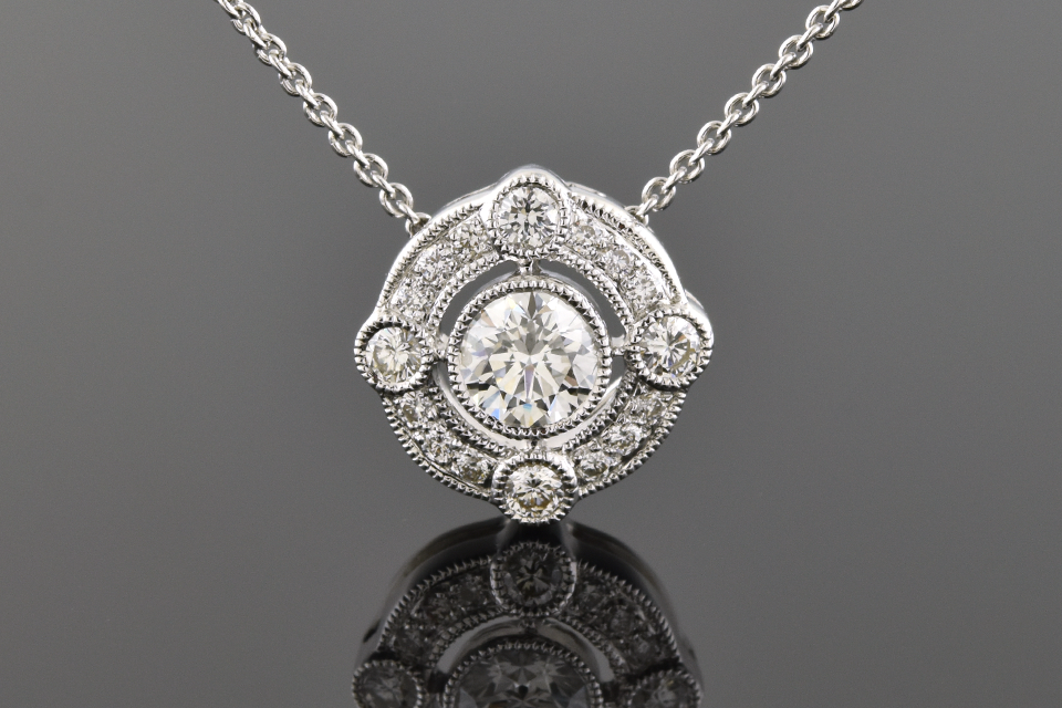 Item #9795 Unique Diamond Pendant 9795