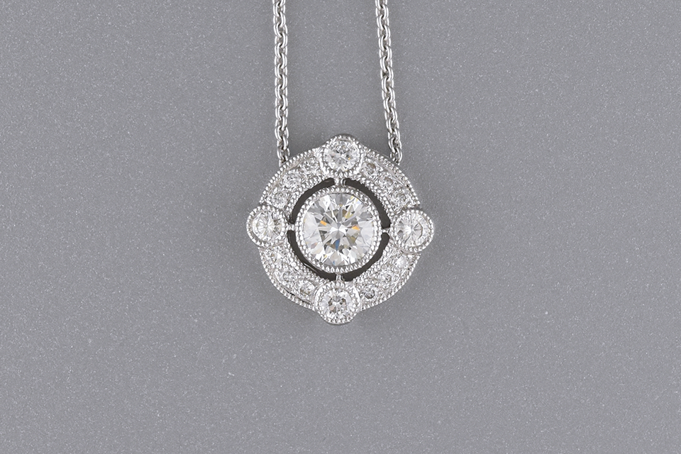 Unique Diamond Pendant by Beverley K