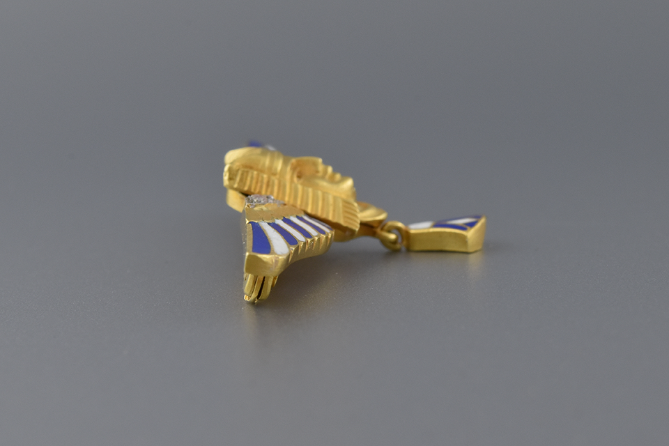 Enamel & Diamond Egyptian Revival Brooch