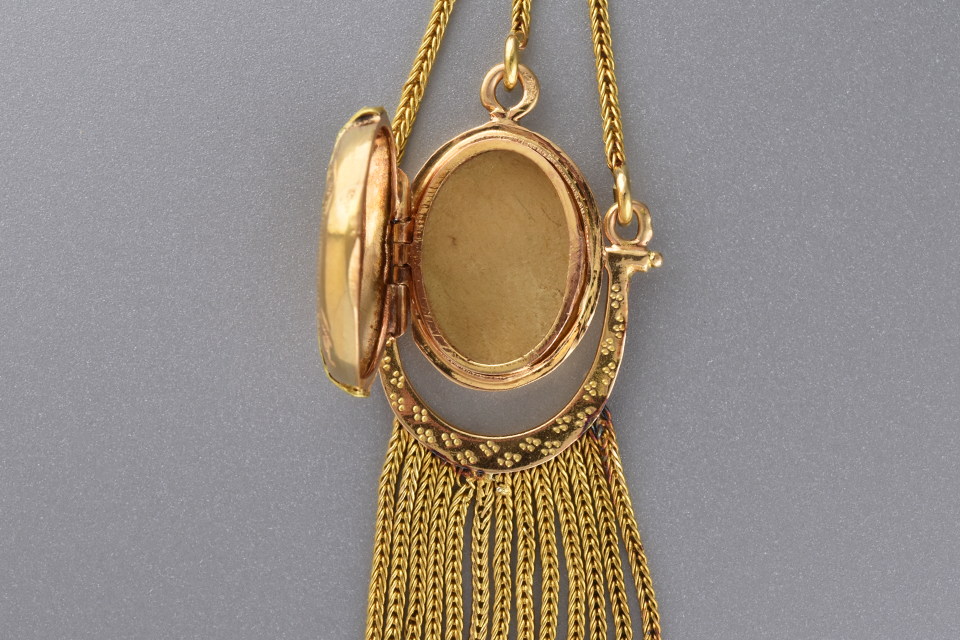 Antique Necklace with Decorative Tassel Locket