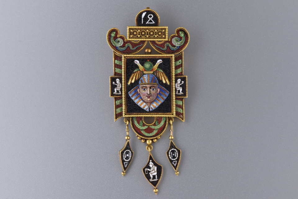 Micro Mosaic Egyptian Revival Brooch