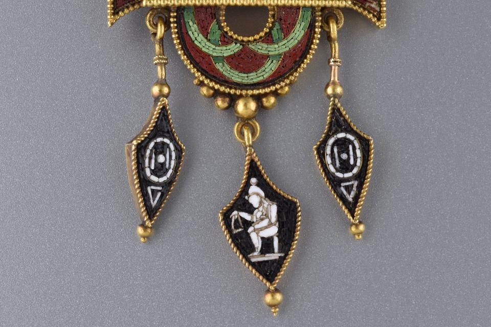 Micro Mosaic Egyptian Revival Brooch