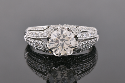 Art Deco Inspired Modern Diamond Engagement Ring