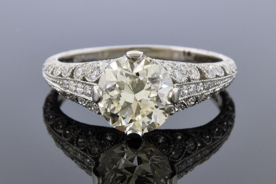 Item #11948 Diamond Detailed Open Design Engagement Ring 11948
