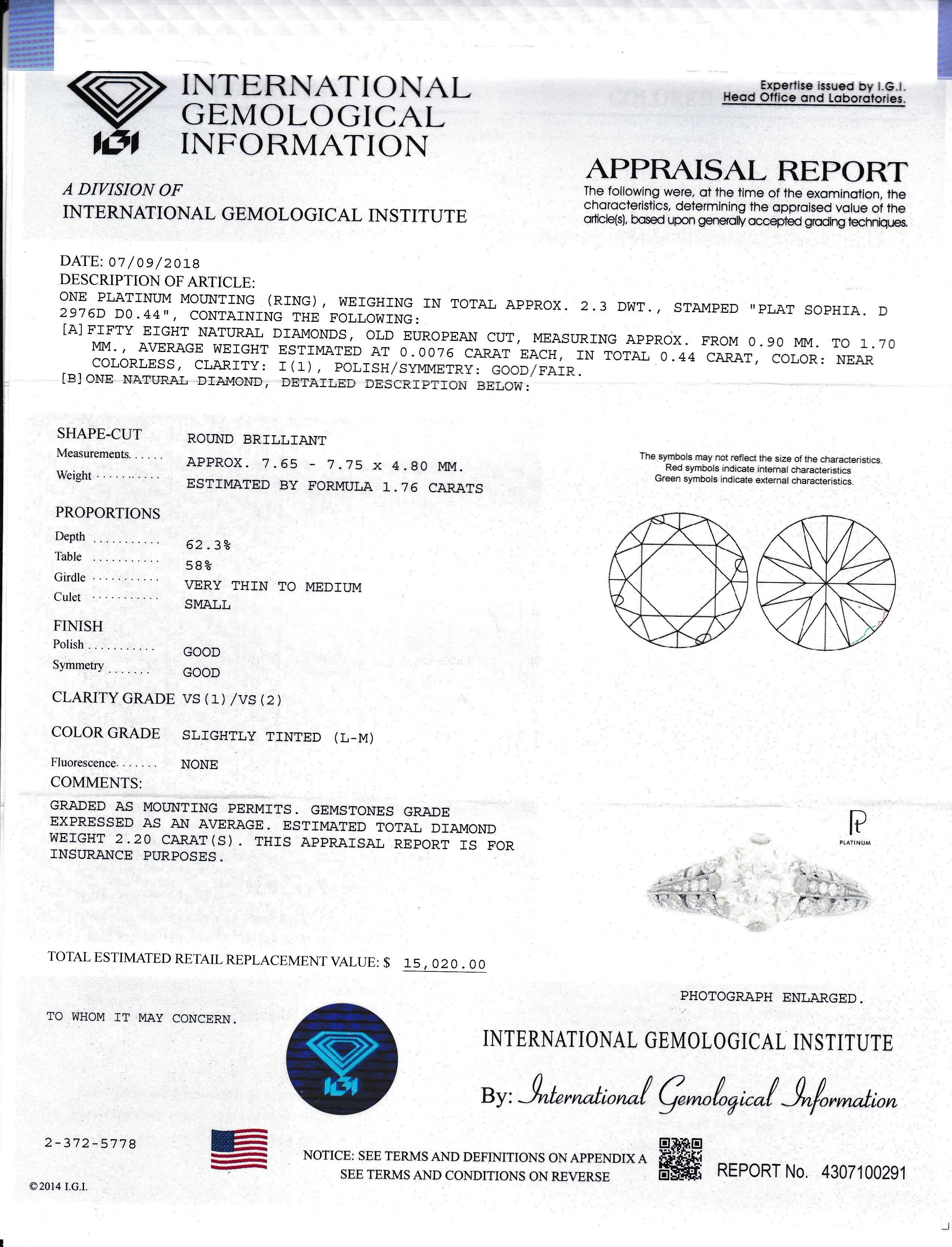 Item #11948 Diamond Detailed Open Design Engagement Ring