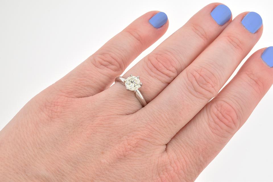Classic 1.02 Carat Diamond Solitaire Engagement Ring