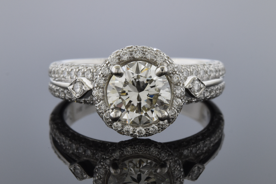 Item # 10180 Simon G. Engagement Ring with Diamond Details 10180
