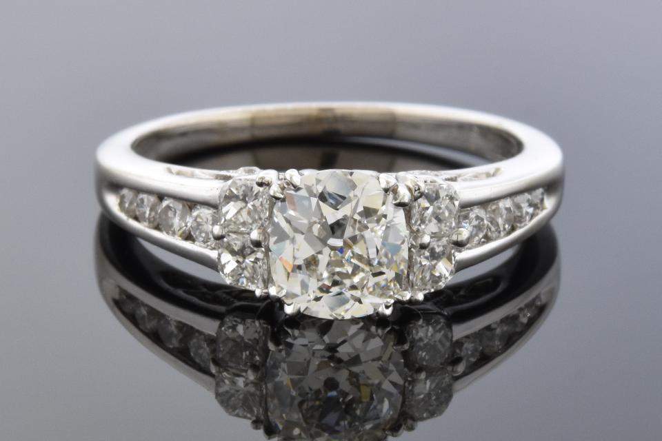 Item # 10218 Calla Cut Diamond Accented Engagement Ring 10218
