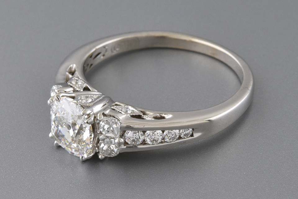 Calla Cut Diamond Accented Engagement Ring