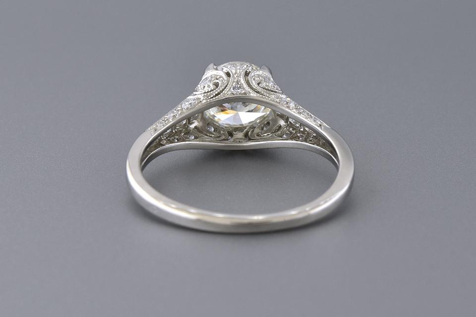 Diamond Set Open Design 1.01 Carat Engagement Ring