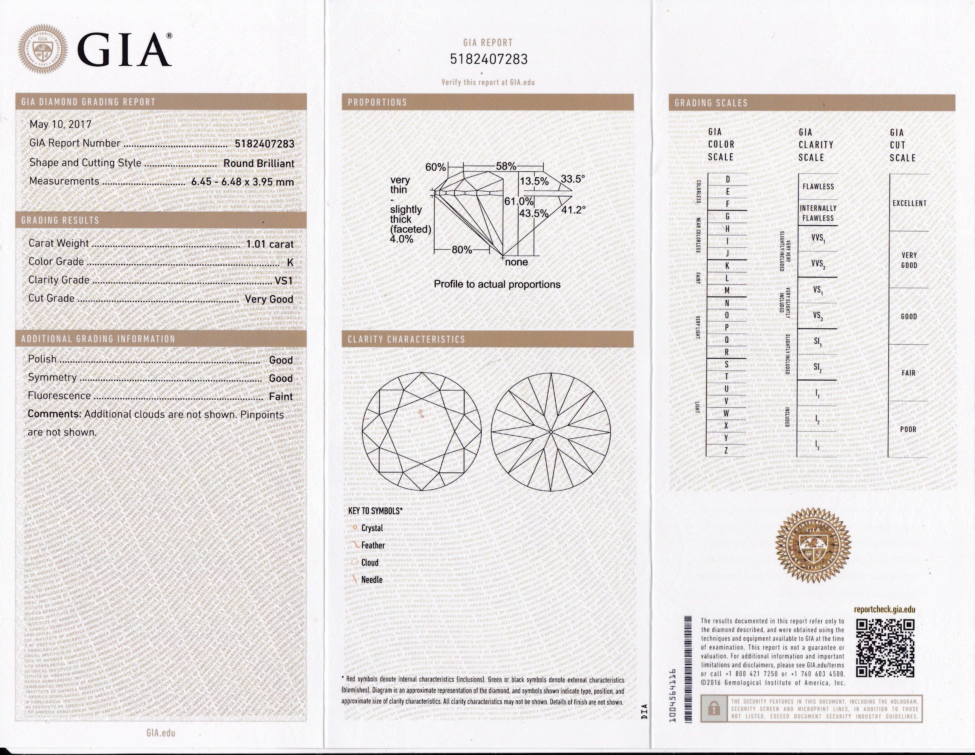 Item #10182 Diamond Set Open Design 1.01 Carat Engagement Ring