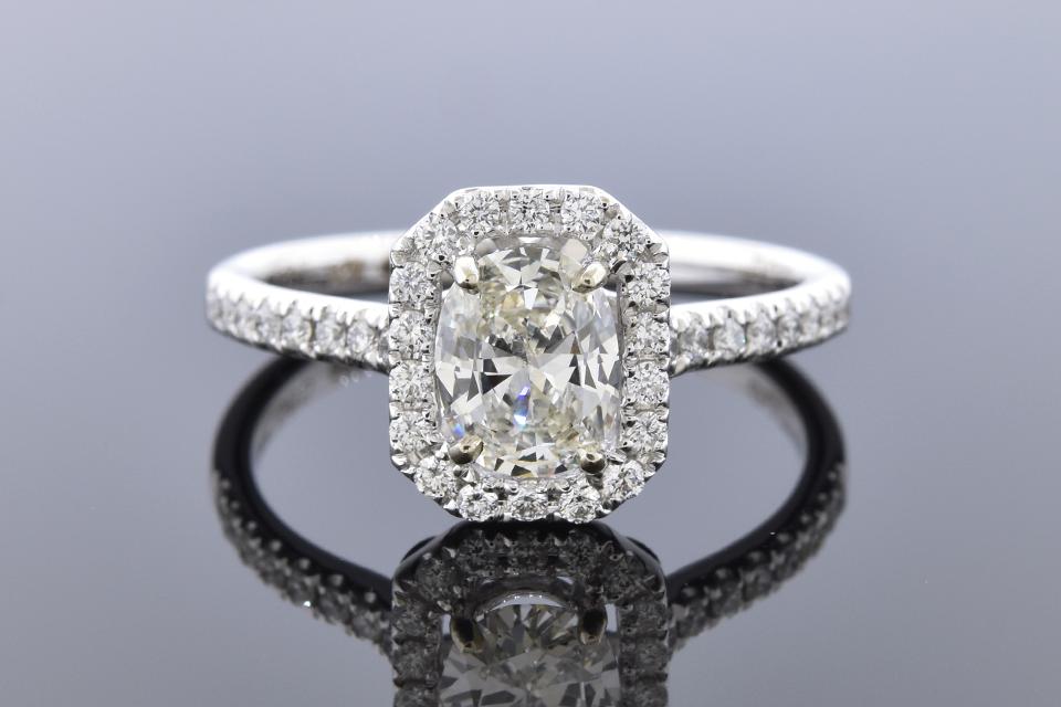 Item #12166 Halo Set .70 Carat Oval Diamond Engagement Ring 12166