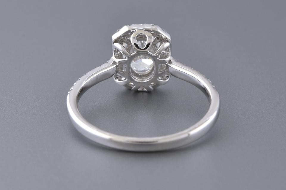 Halo Set .70 Carat Oval Diamond Engagement Ring