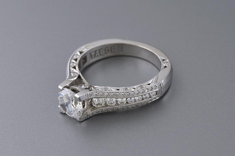 Colorless 1.06 Carat Diamond Engagement Ring by Tacori
