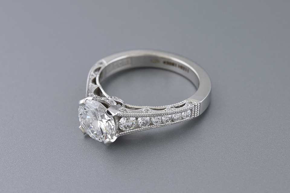 Colorless 1.59 Carat Diamond Engagement Ring by Tacori