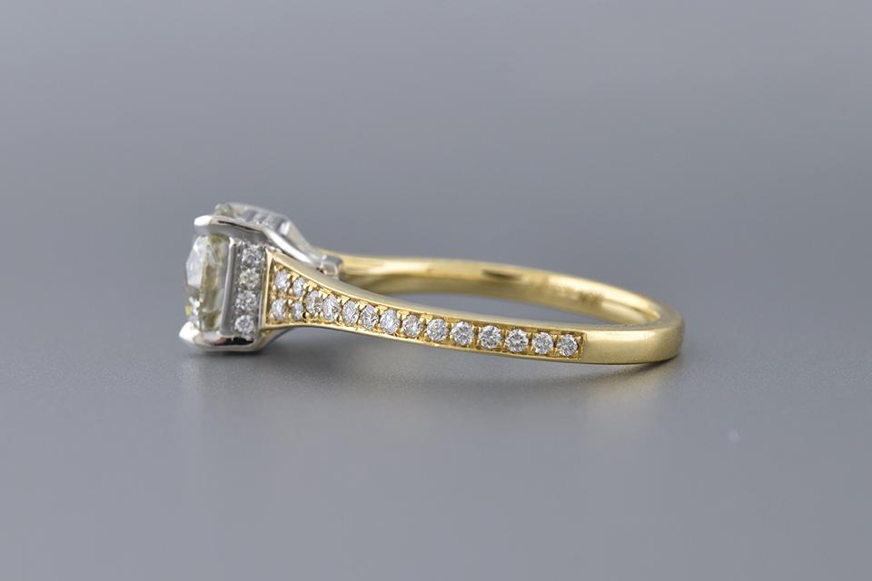 Bright 1.72 Carat Diamond Engagement Ring